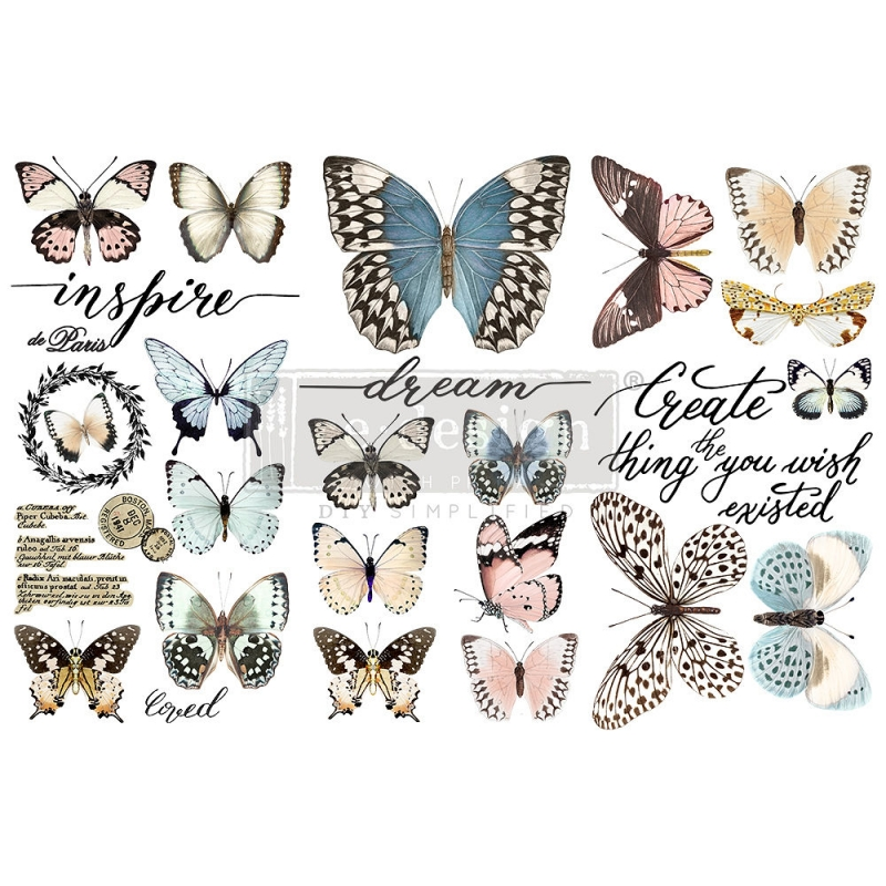 New Peaceful Flight Redesign with Prima Butterflies Home Decor Furniture Transfer