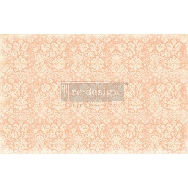 RE·DESIGN WITH PRIMA® dekupaaźipaber Peach Damask