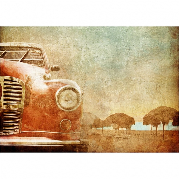 MINT dekupaaźipaber Old Red Car