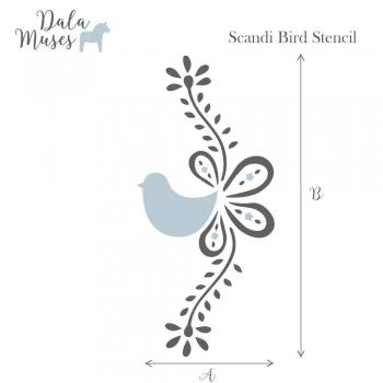 Śabloon Scandi Bird